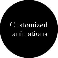 customized animations