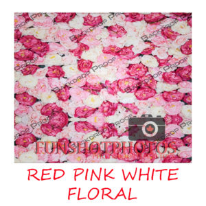 RED PINK WHITE FLORAL