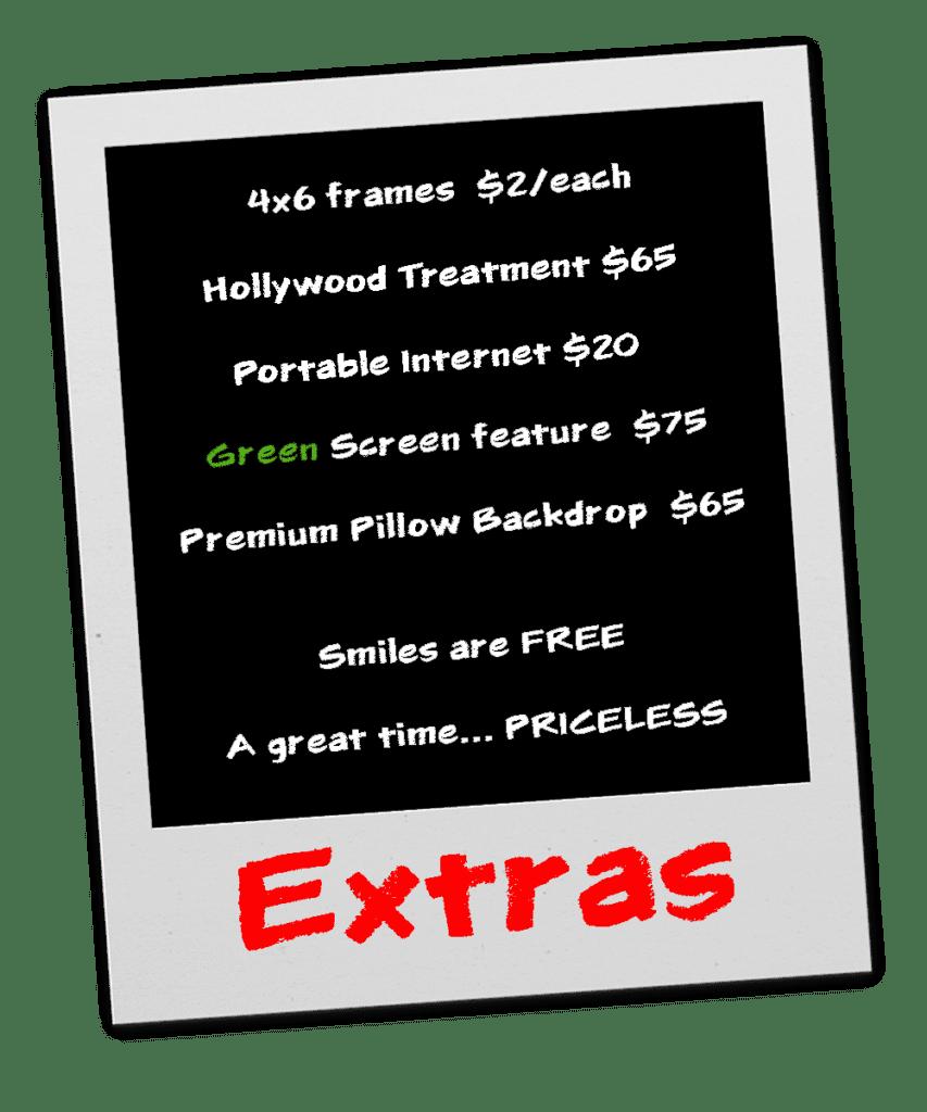 Extras Price list copy