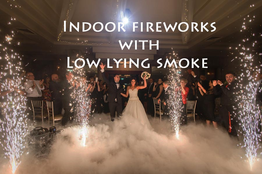 Includes 4 Indoor Fireworks + Low fog $550