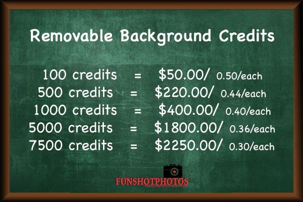 green chalk board credits